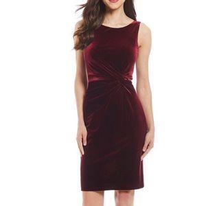 Calvin Klein Velvet Twist-Knot V-Back Dress